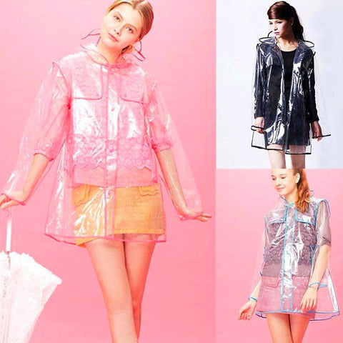 Transparent Raincoat for Women