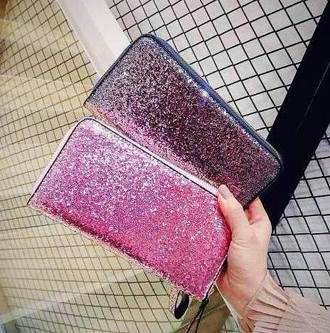 Stylish Glitter Leather Wallet