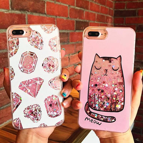 Liquid Glitter Quicksand Case iPhone 6 7 8 Plus