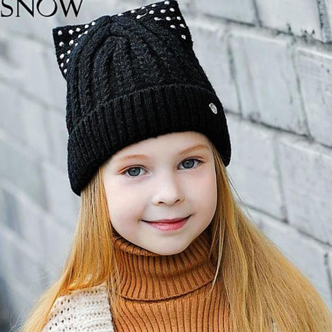 Knitted Beanies Hats for Girls