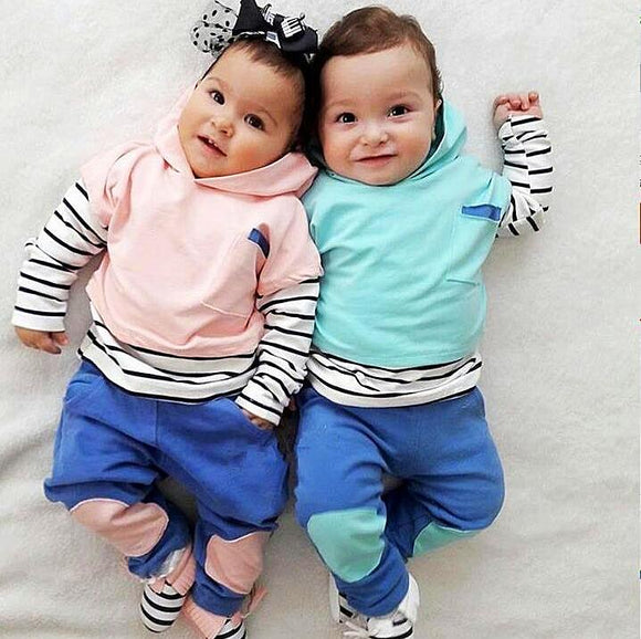 2Pcs Cute Baby Set Outfit