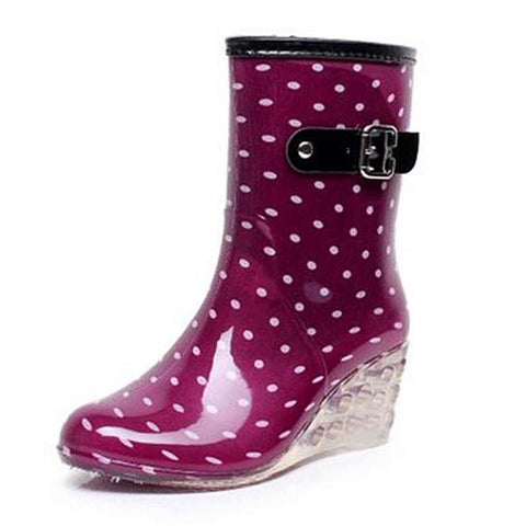 Women High Heel Rain Boot