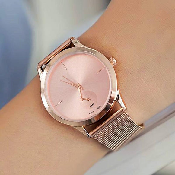 Luxury Ultra Thin Stainless Steel Watch