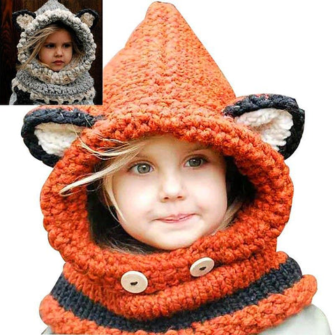 Windproof Hats Scarf Set Boys/Girls