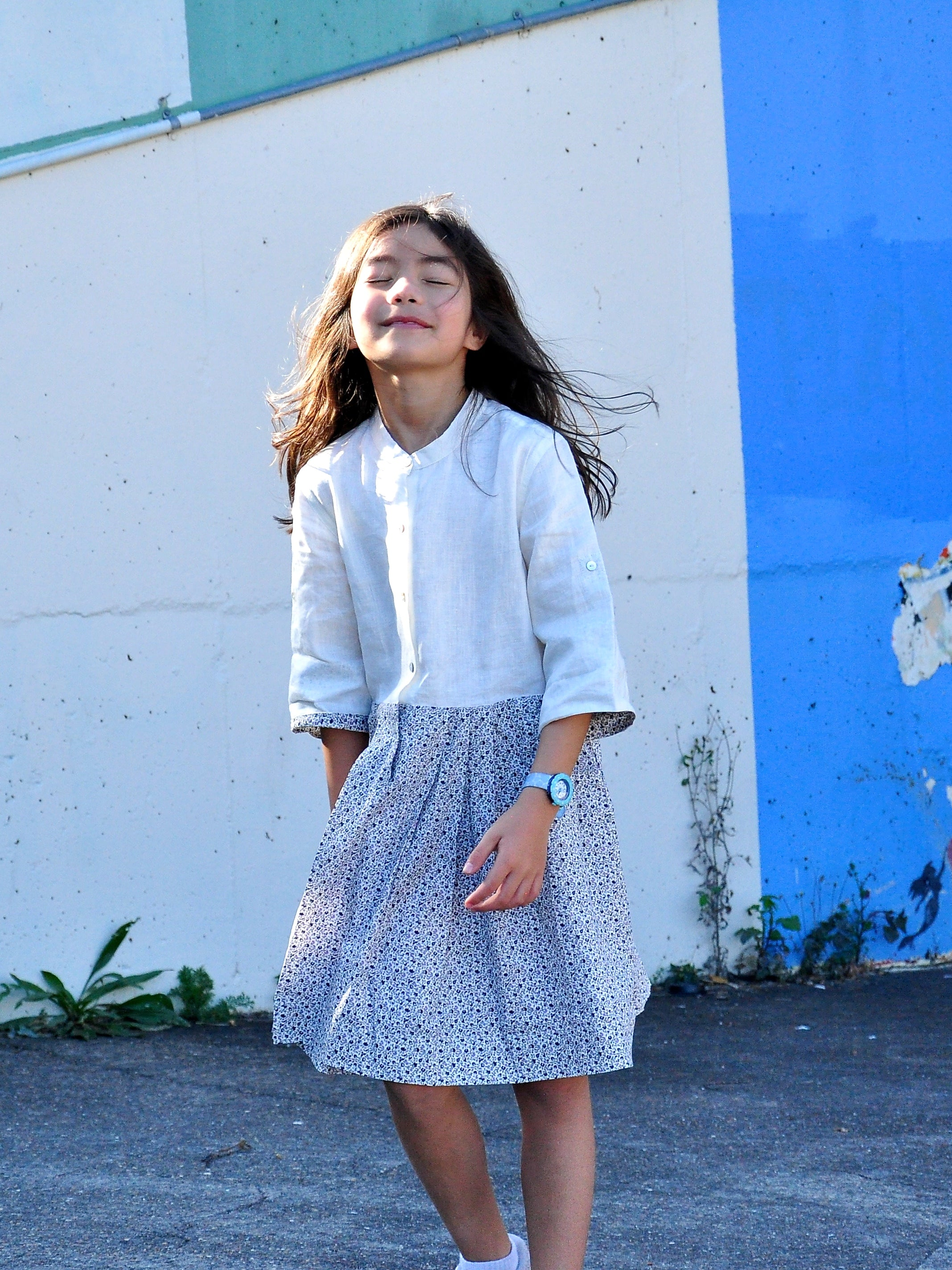 Linen CottonPrint Dress - vsolochildren