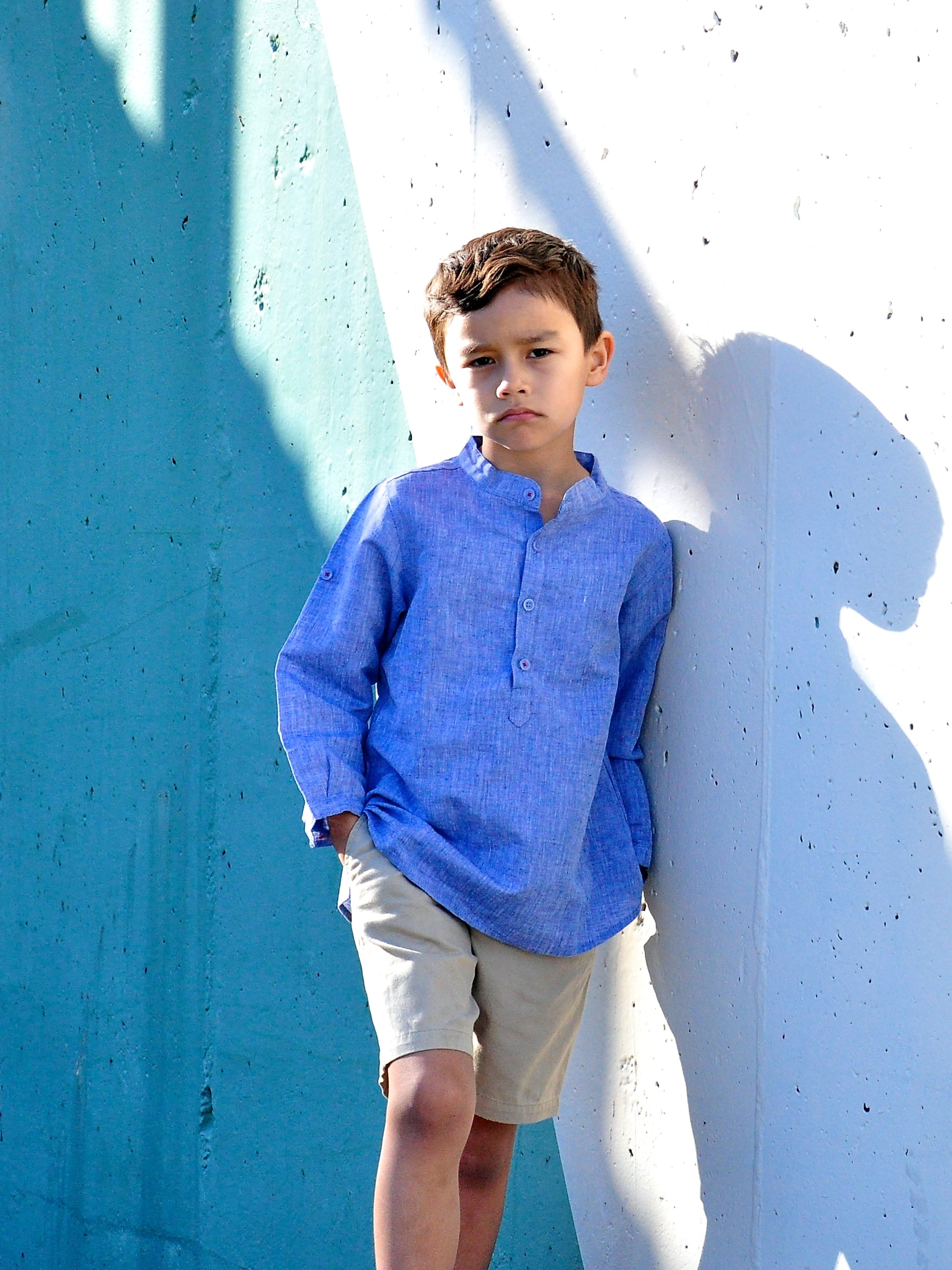 Boy Banded Collar Shirt B LS - vsolochildren