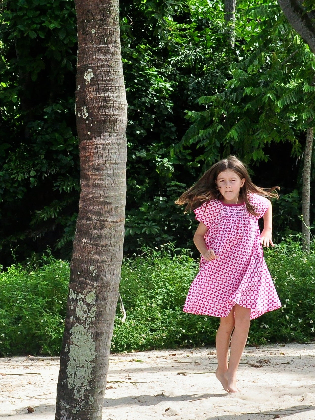 Fuschia Floral Dress - vsolochildren