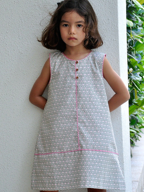 Pinafore Cotton Dress - vsolochildren