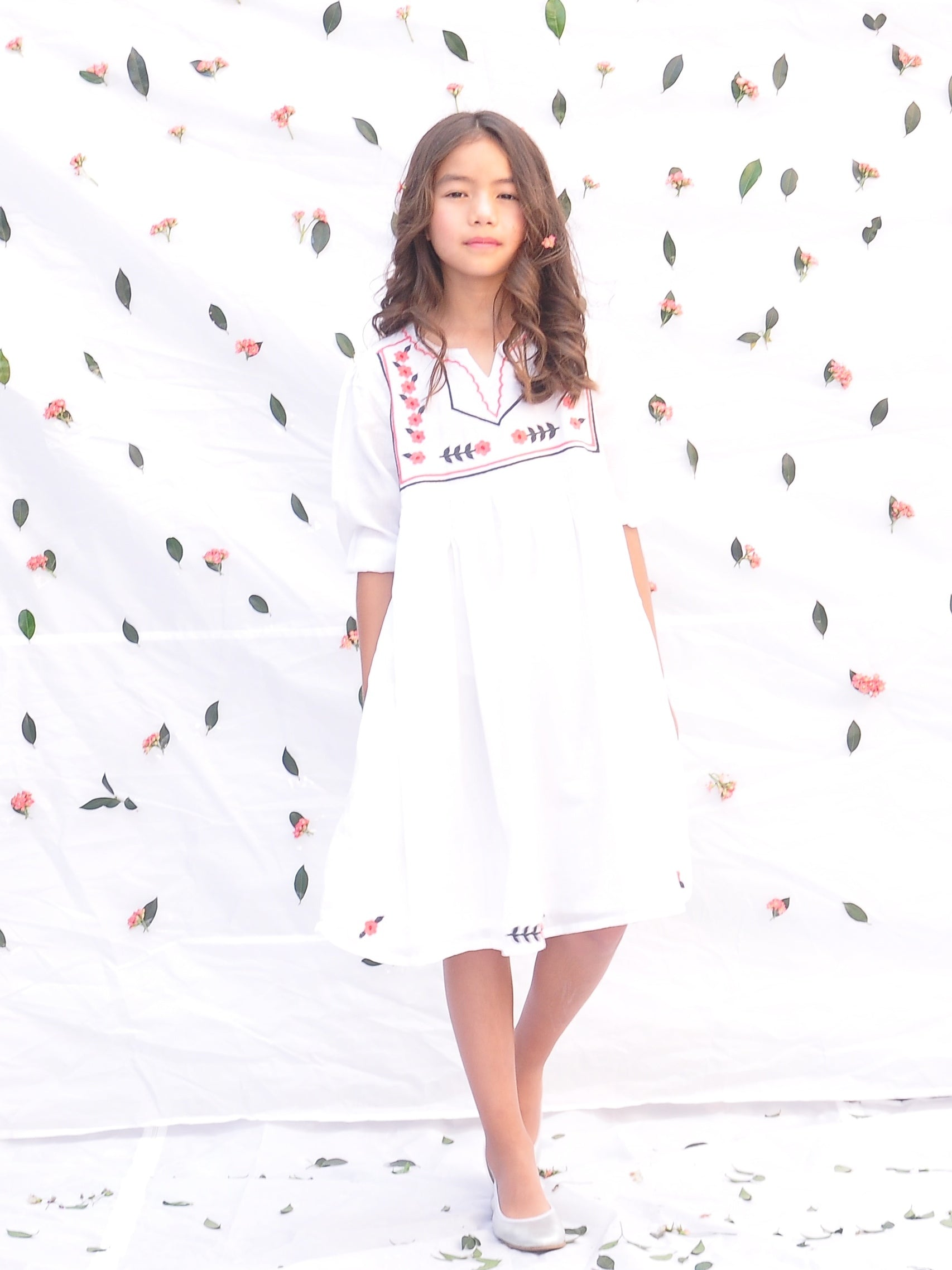 Embroidered Cotton Dress - vsolochildren