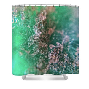 Crystals And Stones Amazonite 7921 - Shower Curtain - Jani Bryson Intuitive Photographer