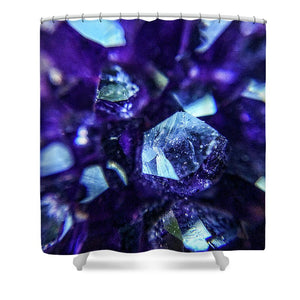 Crystals And Stones Amethyst 9190 - Shower Curtain