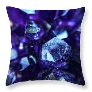 Crystals And Stones Amethyst 9190 - Throw Pillow - Jani Bryson Intuitive Photographer