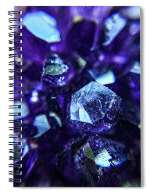 Crystals And Stones Amethyst 9190 - Spiral Notebook