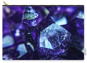 Crystals And Stones Amethyst 9190 - Carry-All Pouch - Jani Bryson Intuitive Photographer