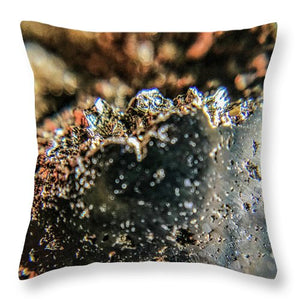 Crystal And Stones Pyrite 4001 - Throw Pillow - Jani Bryson Intuitive Photographer