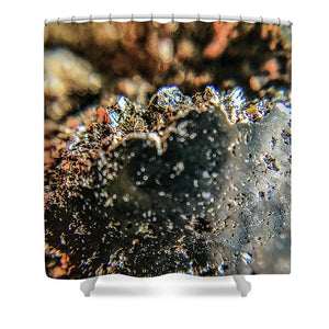 Crystal And Stones Pyrite 4001 - Shower Curtain - Jani Bryson Intuitive Photographer