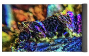 Crystals And Stones Peacock Ore 8972 - Yoga Mat - Jani Bryson Intuitive Photographer