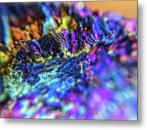 Crystals And Stones Peacock Ore 8972 - Metal Print