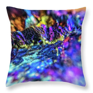 Crystals And Stones Peacock Ore 8972 - Throw Pillow