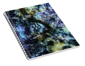 Crystals And Stones Lepidolite 9019 - Spiral Notebook - Jani Bryson Intuitive Photographer