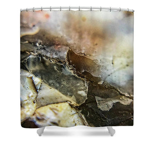 Crystals And Stones Agate 3385 - Shower Curtain - Jani Bryson Intuitive Photographer