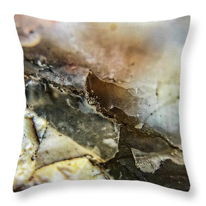 Crystals And Stones Agate 3385 - Throw Pillow - Jani Bryson Intuitive Photographer