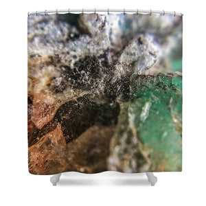 Crystals And Stones Amazonite 5708 - Shower Curtain - Jani Bryson Intuitive Photographer