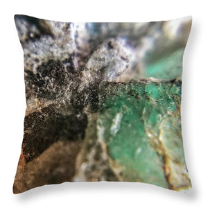 Crystals And Stones Amazonite 5708 - Throw Pillow - Jani Bryson Intuitive Photographer