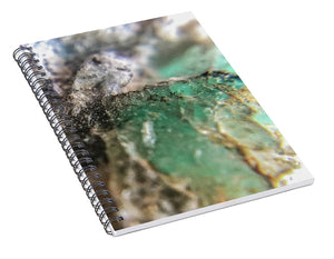 Crystals And Stones Amazonite 5708 - Spiral Notebook - Jani Bryson Intuitive Photographer