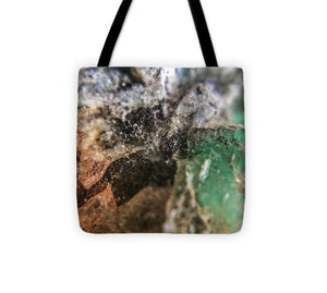 Crystals And Stones Amazonite 5708 - Tote Bag - Jani Bryson Intuitive Photographer