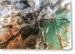 Crystals And Stones Amazonite 5708 - Greeting Card - Jani Bryson Intuitive Photographer