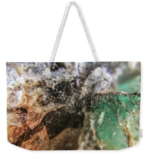 Crystals And Stones Amazonite 5708 - Weekender Tote Bag - Jani Bryson Intuitive Photographer