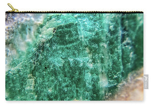 Crystals And Stones Amazonite #7931 - Carry-All Pouch - Jani Bryson Intuitive Photographer