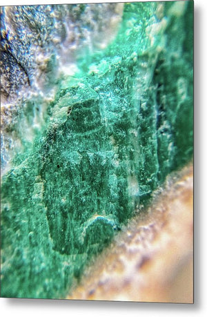 Crystals And Stones Amazonite #7931 - Metal Print - Jani Bryson Intuitive Photographer