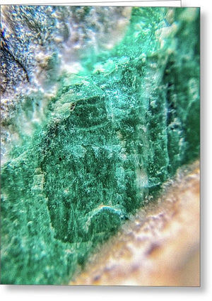 Crystals And Stones Amazonite #7931 - Greeting Card - Jani Bryson Intuitive Photographer