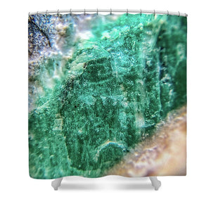 Crystals And Stones Amazonite #7931 - Shower Curtain - Jani Bryson Intuitive Photographer