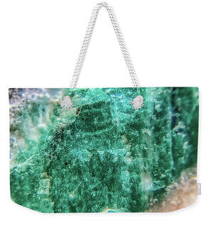 Crystals And Stones Amazonite #7931 - Weekender Tote Bag - Jani Bryson Intuitive Photographer