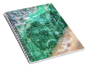 Crystals And Stones Amazonite #7931 - Spiral Notebook - Jani Bryson Intuitive Photographer