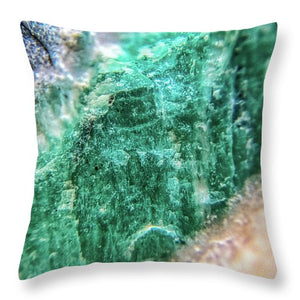 Crystals And Stones Amazonite #7931 - Throw Pillow - Jani Bryson Intuitive Photographer