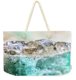 Crystals And Stones Amazonite E5655 - Weekender Tote Bag - Jani Bryson Intuitive Photographer