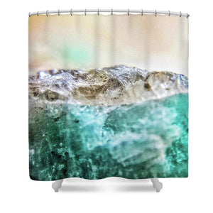 Crystals And Stones Amazonite E5655 - Shower Curtain - Jani Bryson Intuitive Photographer