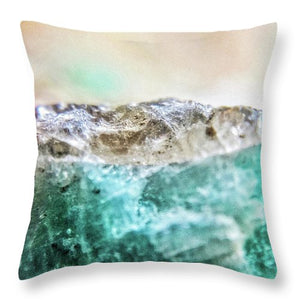 Crystals And Stones Amazonite E5655 - Throw Pillow - Jani Bryson Intuitive Photographer