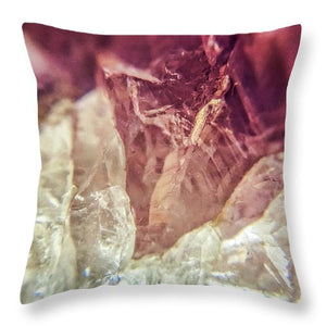 Crystals And Stones Amethyst 4612 - Throw Pillow - Jani Bryson Intuitive Photographer