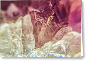 Crystals And Stones Amethyst 4612 - Greeting Card - Jani Bryson Intuitive Photographer