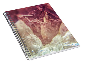 Crystals And Stones Amethyst 4612 - Spiral Notebook - Jani Bryson Intuitive Photographer