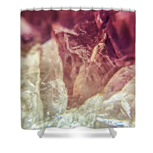 Crystals And Stones Amethyst 4612 - Shower Curtain - Jani Bryson Intuitive Photographer