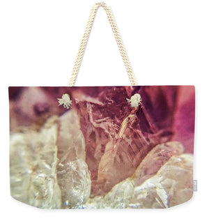 Crystals And Stones Amethyst 4612 - Weekender Tote Bag - Jani Bryson Intuitive Photographer