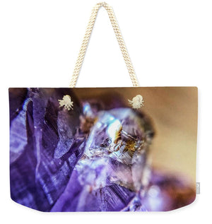 Crystals And Stones Amethyst 4628 - Weekender Tote Bag - Jani Bryson Intuitive Photographer