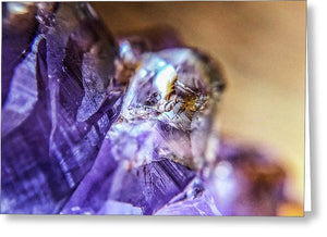 Crystals And Stones Amethyst 4628 - Greeting Card