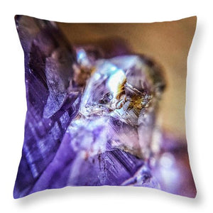 Crystals And Stones Amethyst 4628 - Throw Pillow - Jani Bryson Intuitive Photographer